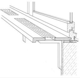 Вентиляционная решетка в подоконник